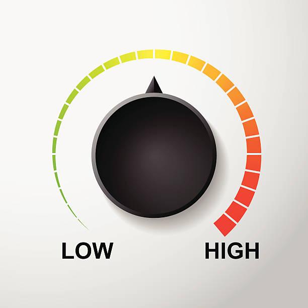 temperatur zifferblatt kontrolle vektor - nummernscheibe stock-grafiken, -clipart, -cartoons und -symbole