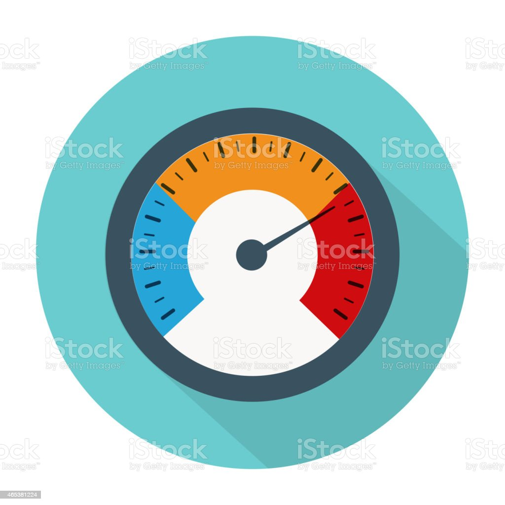 Temperature gauge used in cooking grill with the equipment vector art illustration