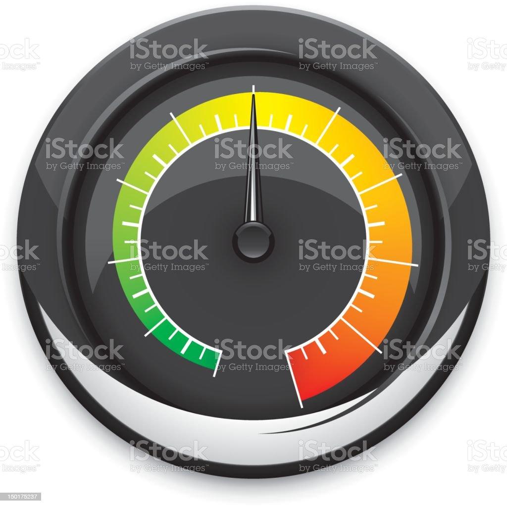 Temperature gauge vector art illustration