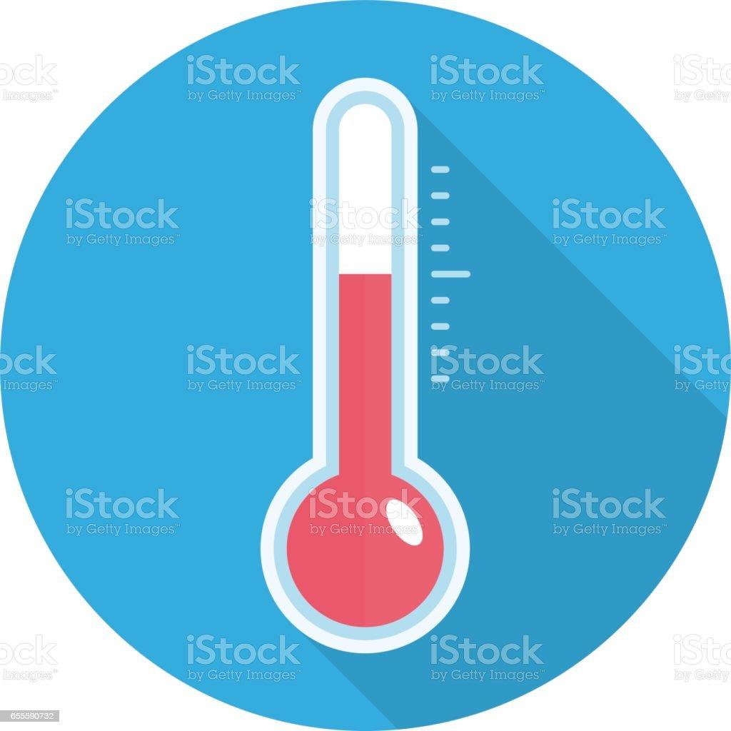 Temperature sensor icon. vector art illustration
