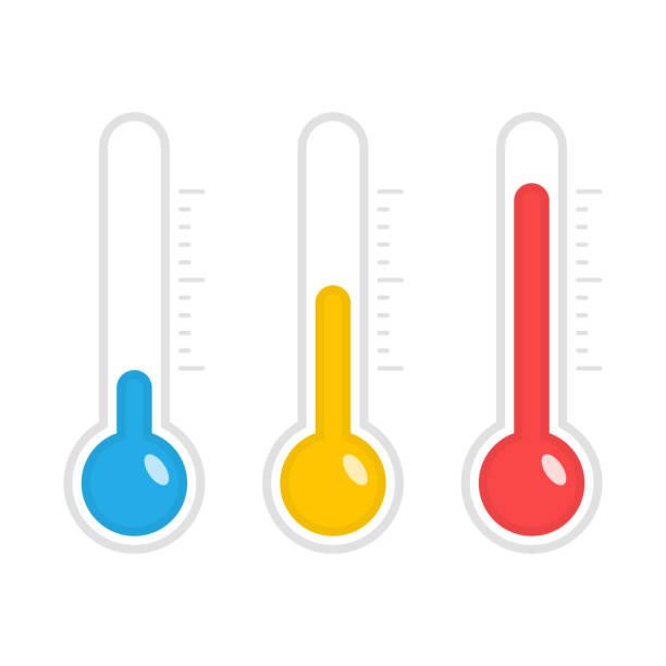 stockillustraties, clipart, cartoons en iconen met temperatuur vector iconen. - thermometer