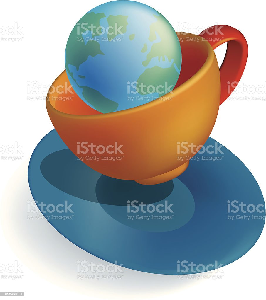 tempest in a teacup royalty-free stock vector art