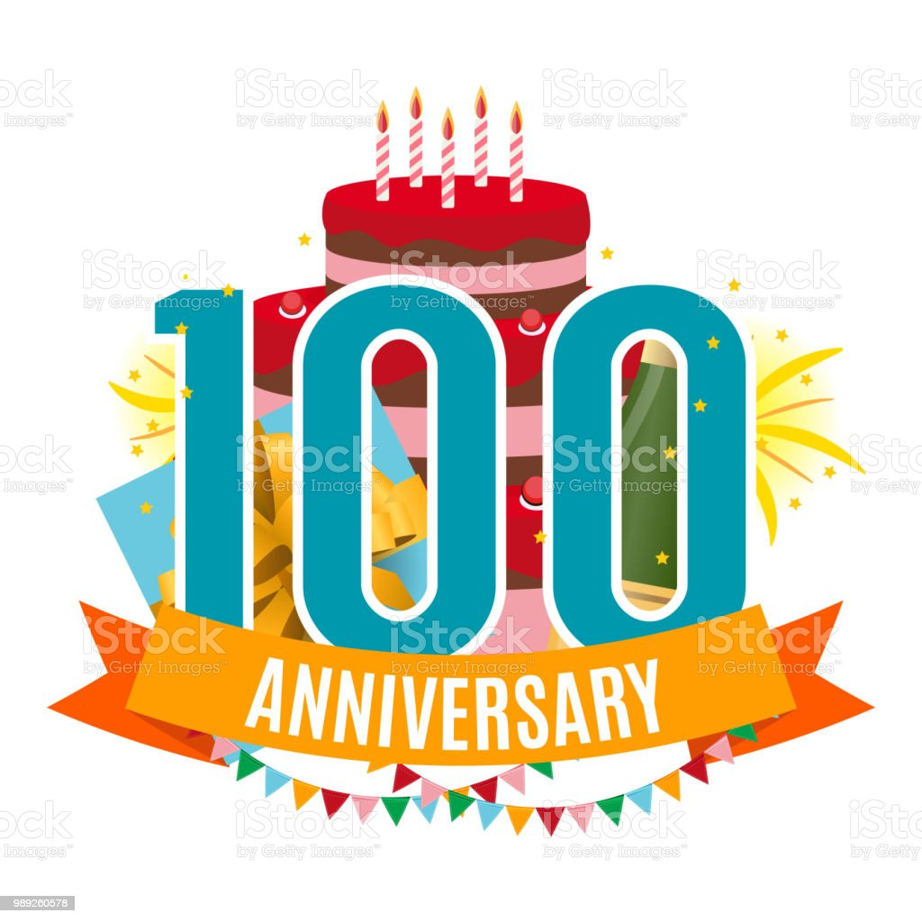 Modele 100 Ans Anniversaire Felicitations Carte De Voeux Avec Gateau