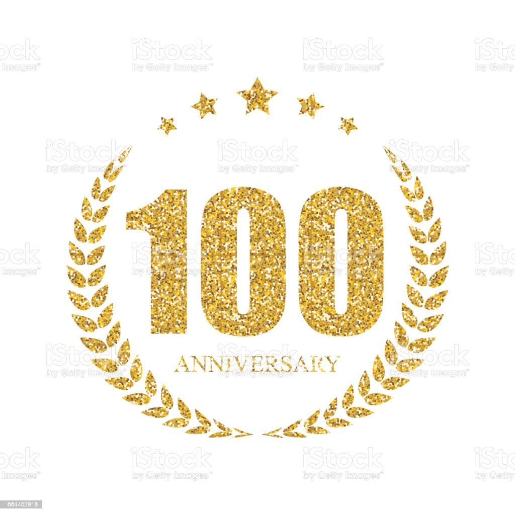 Template 100 Years Anniversary Vector Illustration vector art illustration