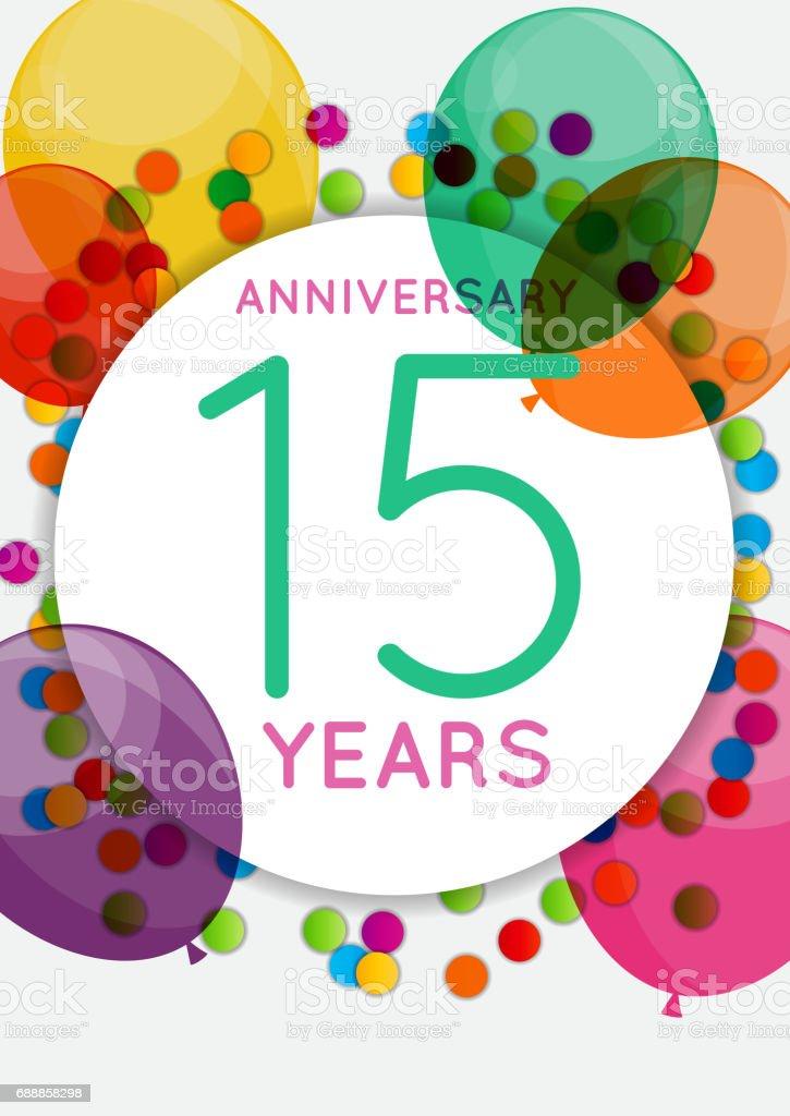 vorlage 15 jahre jubiläum herzlichen glückwunsch grußkarte, Einladung
