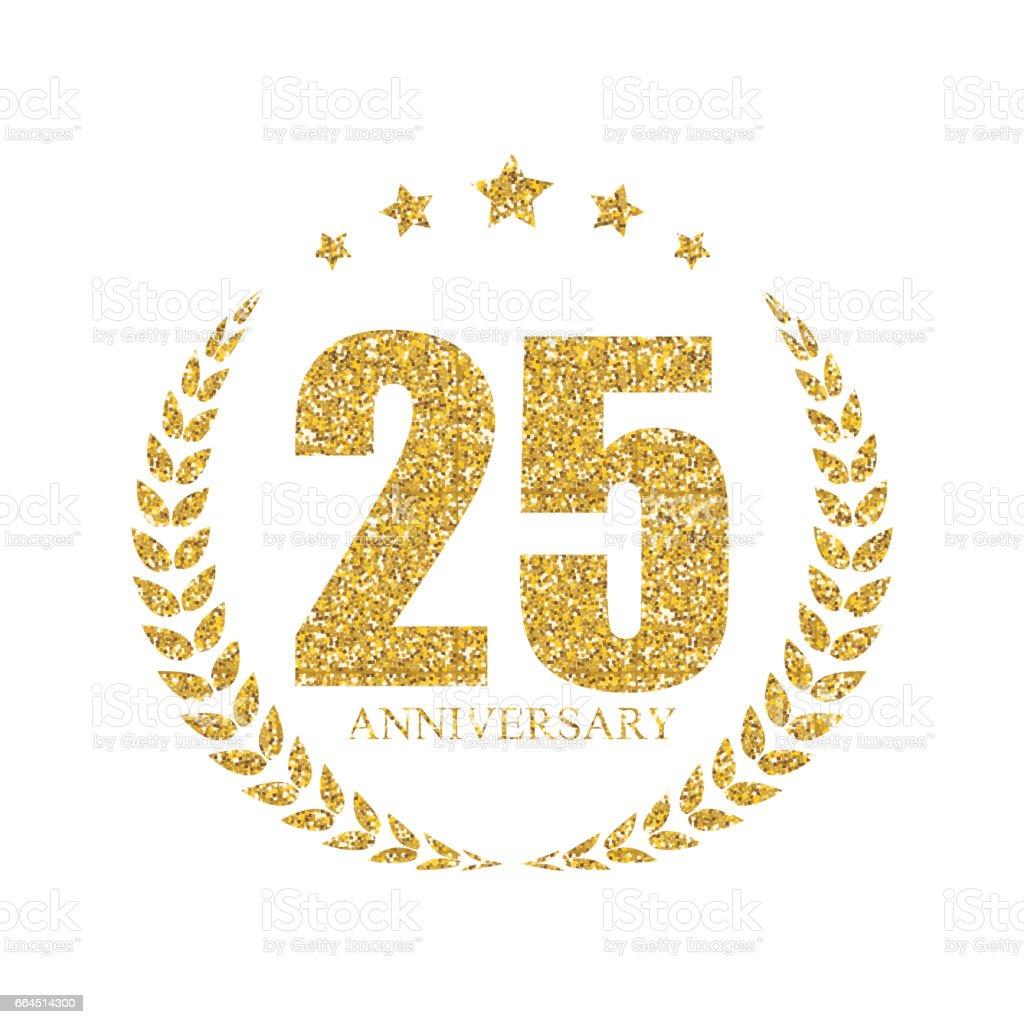 25 30 30 Helloworld: Ilustración De Ilustración De Vector De Plantilla 25 Años