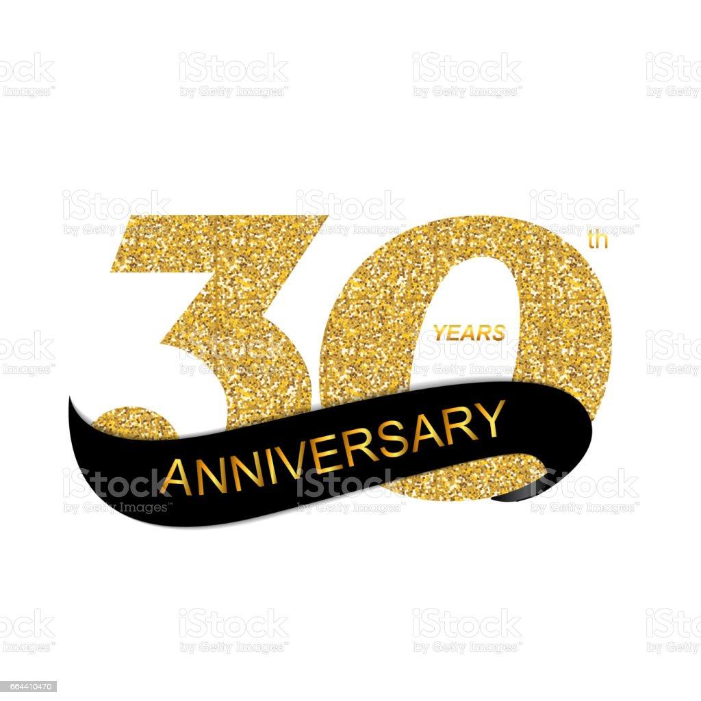 Template 30th Anniversary Vector Illustration Stock Vector Art
