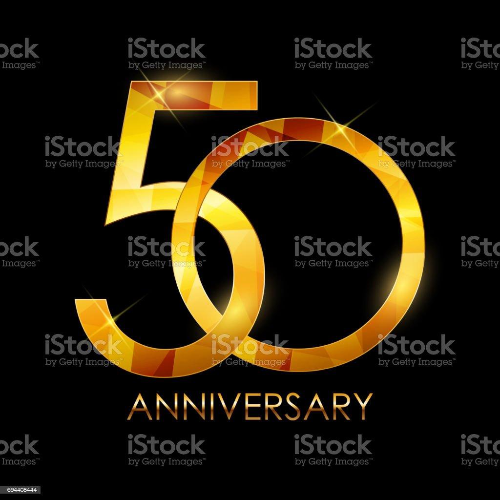 Template 50 Years Anniversary Congratulations Vector Illustratio vector art illustration