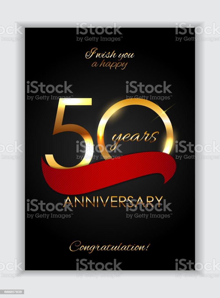 Template 50 Years Anniversary Congratulations Vector Illustration vector art illustration