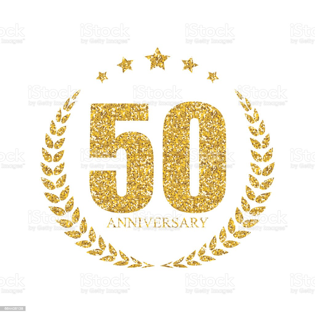 Modele 50 Ans Anniversaire Illustration Vectorielle Cliparts