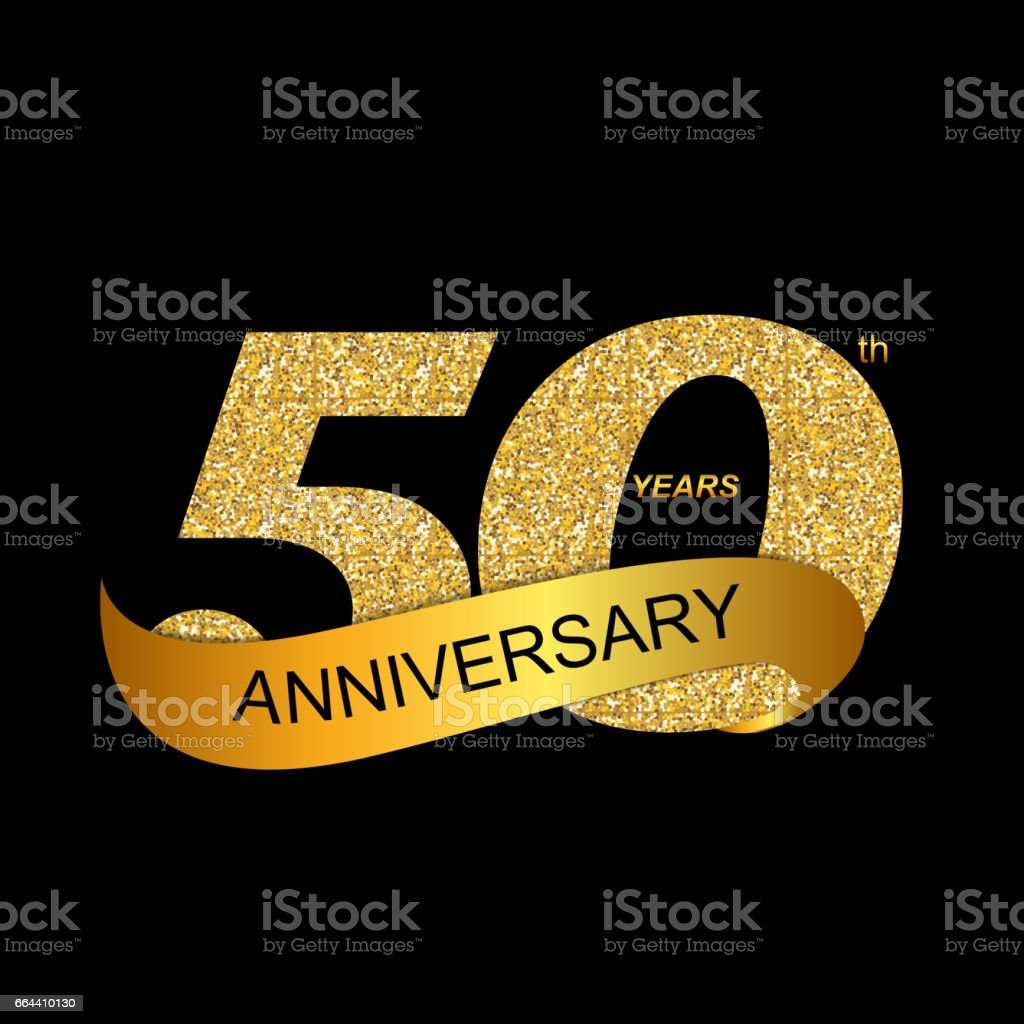 Modele 50eme Anniversaire Vector Illustration Cliparts Vectoriels