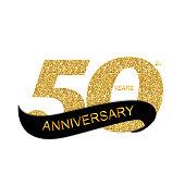 Template 50th Anniversary Vector Illustration