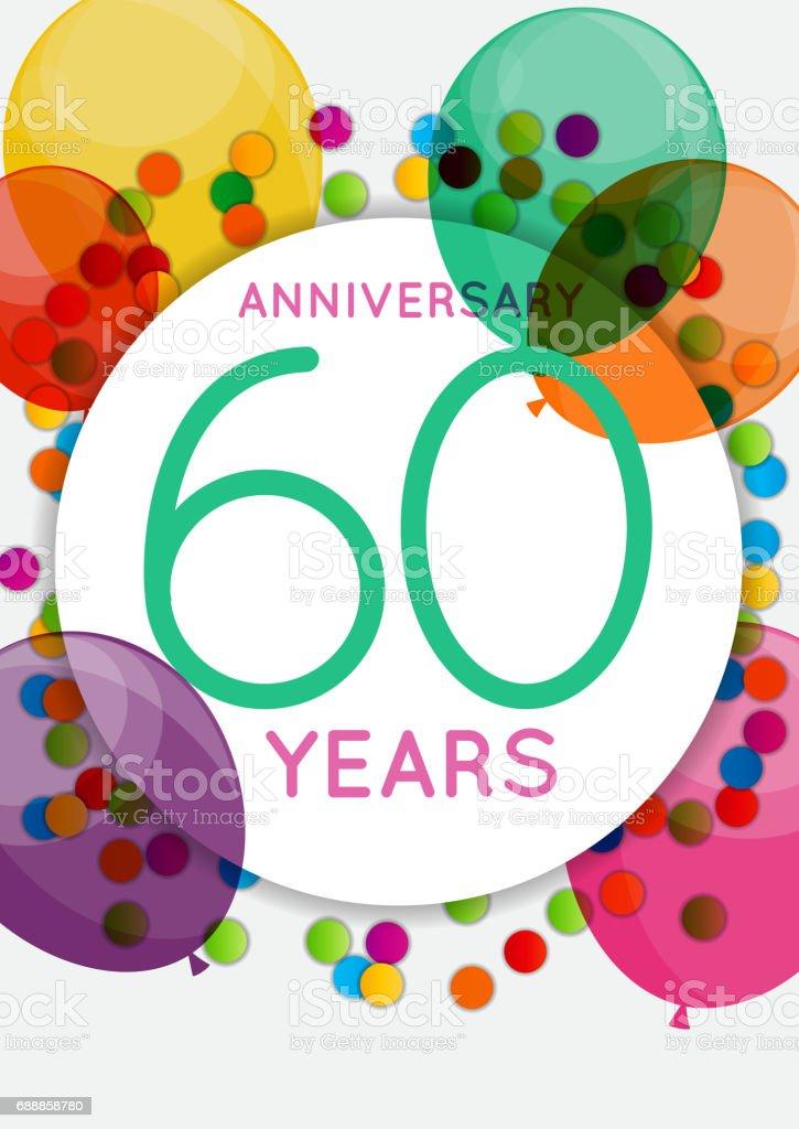 Modele 60 Ans Anniversaire Felicitations Carte De Voeux Invitation