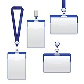 Template Badge Identification Set. Vector