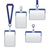 Template Badge Identification Set. Vector