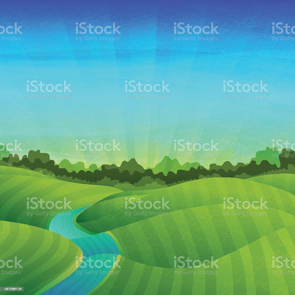 Ilustración de Plantilla De Diseño De Banner Pósteres Paisaje Con ...