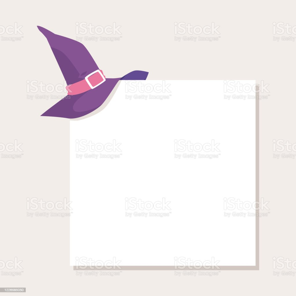 Template Banner For Halloween With Witch Hat Flat Vector Illustration Isolated Stock Illustration Download Image Now Istock