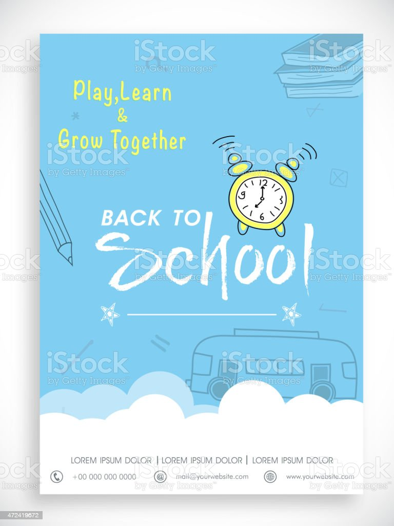 template banner or flyer for back to school stock vector art more