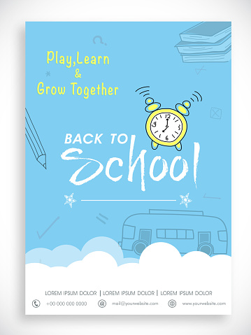 Template, banner or flyer for back to school.