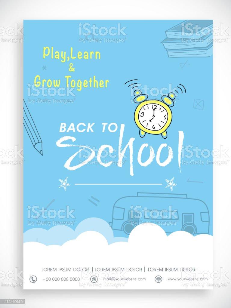 Vorlage flyer, banner und back-to-school-Look. – Vektorgrafik