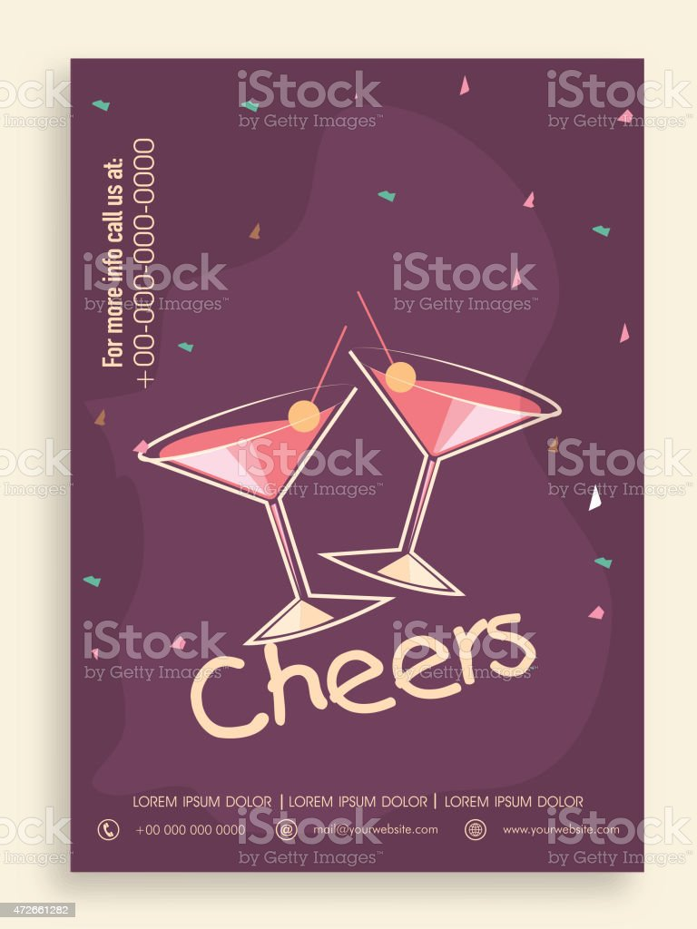 template banner or flyer for party stock vector art more images of