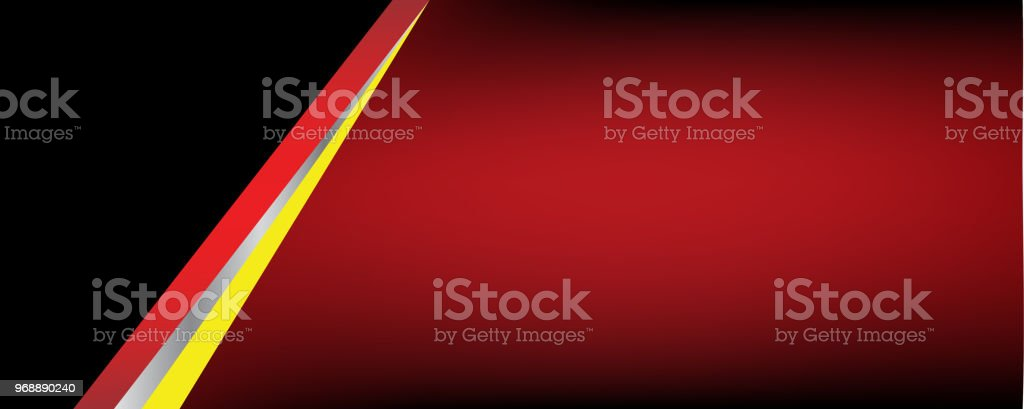 template banner silver black red yellow and chrome stock vector art