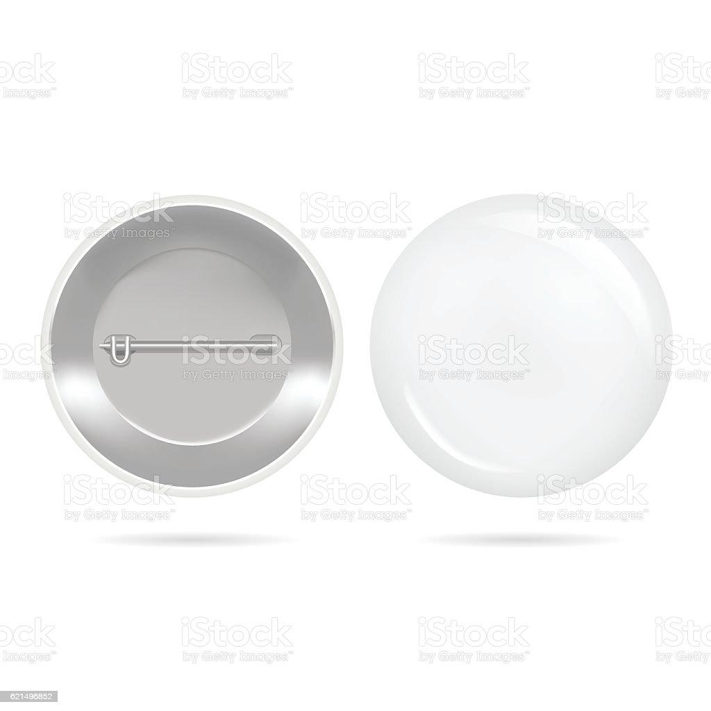 Template Blank White Button Badge. Vector template blank white button badge vector – cliparts vectoriels et plus d'images de abstrait libre de droits
