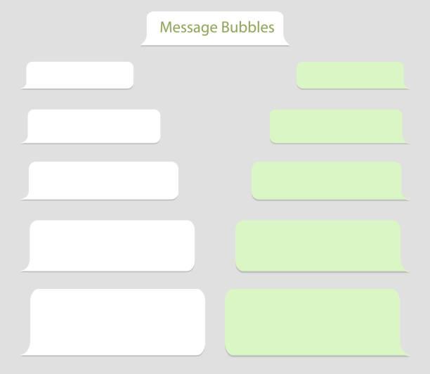 illustrations, cliparts, dessins animés et icônes de chat bulle de modèle, message de discours. écran de messager de ballon avec la boîte de conversation. interface de fenêtre de téléphone portable avec dialogue de chat. icône de message de conversation pour les médias sociaux. illustration vectoriel - twitter