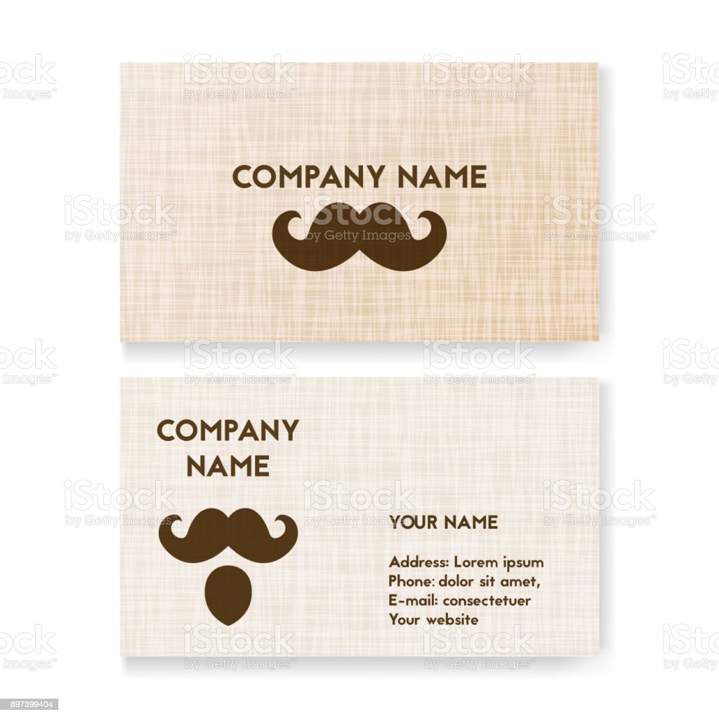 Template Business Card For Barbershop Stock Illustration