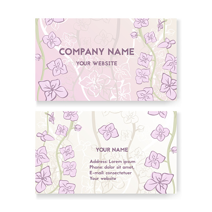 Template business card for flower shop.