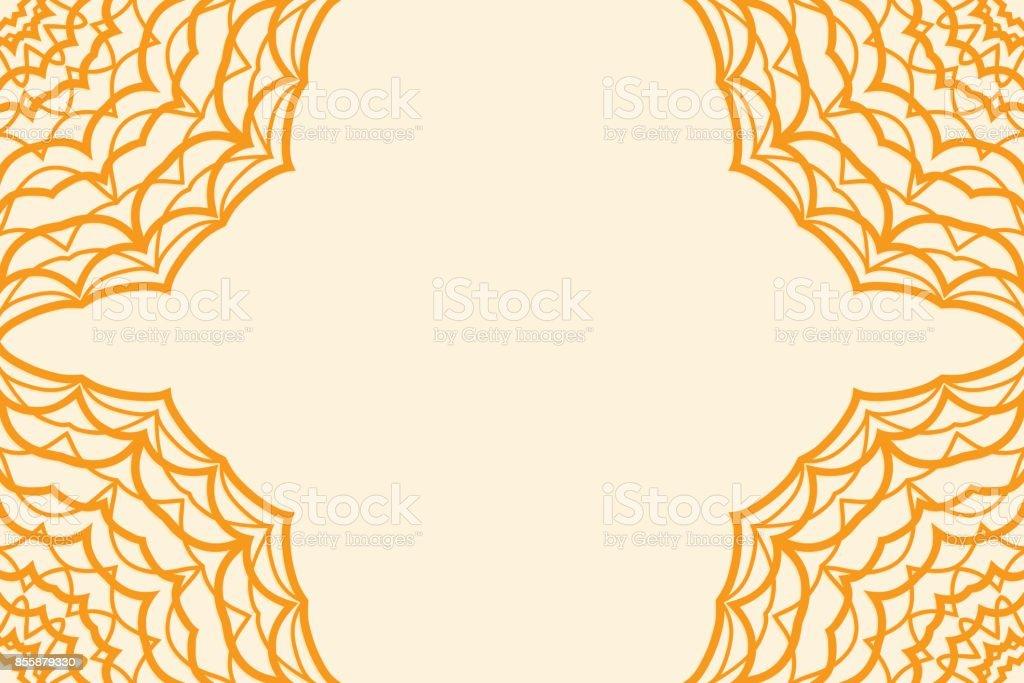 Modle Carte De Visite Pour Invitation Mariage Illustration Vectorielle Couleur Orange