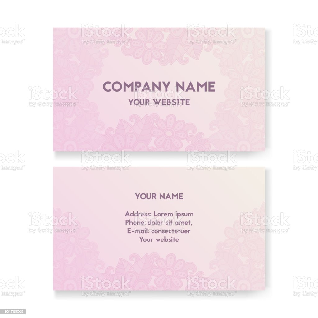 Template Business Card For Wedding Salon Stock Vector Art & More ...