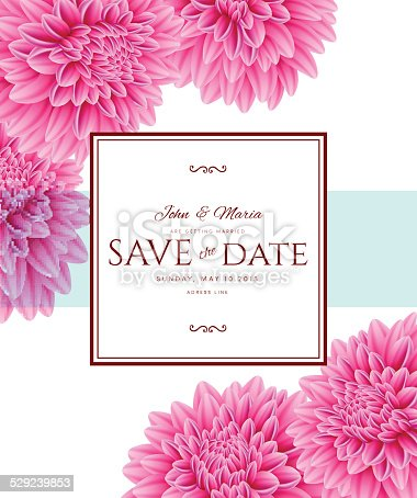 Vector illustration of Template card Save the Date