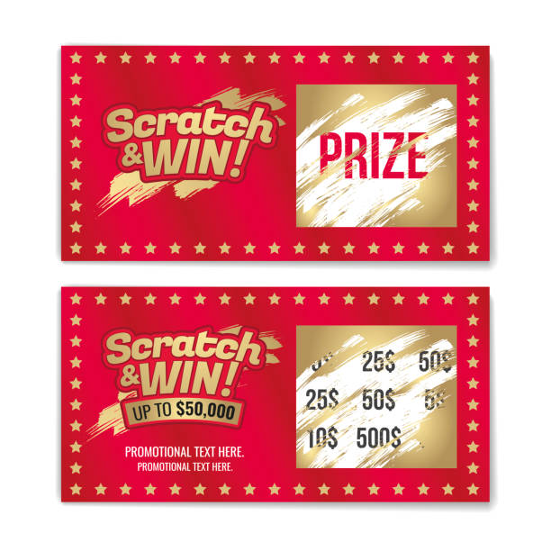 Template cards with scratch & win letters. Golden colors letters. CMYK colors. Template cards with scratch & win letters. Golden colors letters. CMYK colors. Place for prize. Vector illustration. lottery stock illustrations