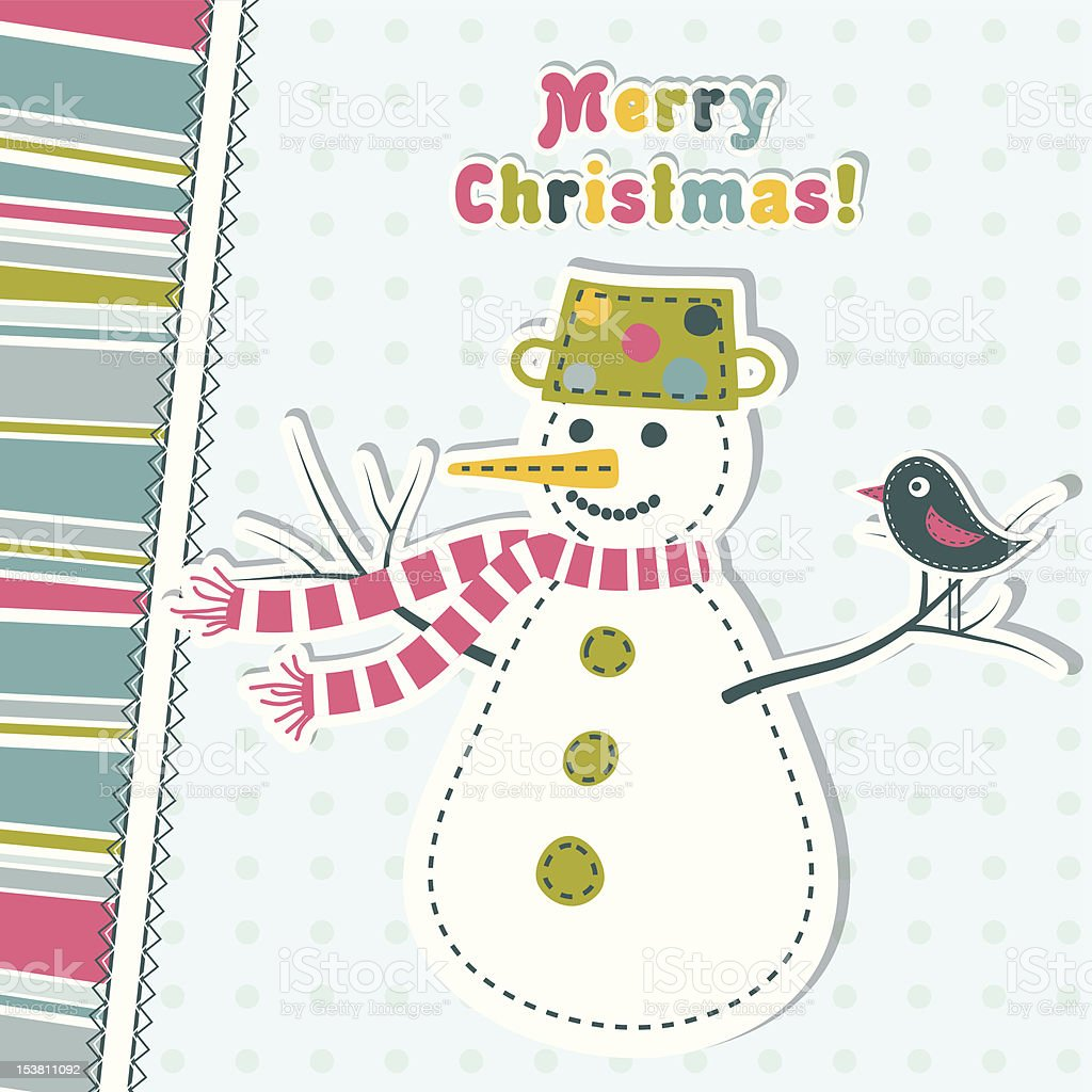 Template christmas greeting card royalty-free stock vector art