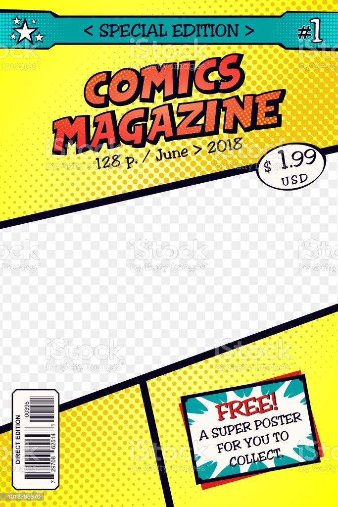 Comic Book Cover Template | Template Comic Book Cover Art Vector Stock Vector Art More Images