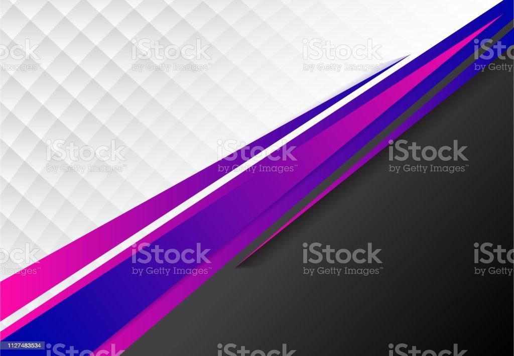 Vorlage Unternehmenskonzept Blau Lila Und Schwarz Grau Und Weiß