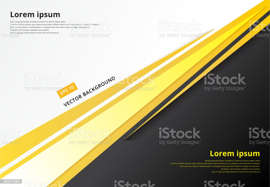 template corporate concept yellow black grey and white contrast background. Vector graphic design illustration vector art illustration
