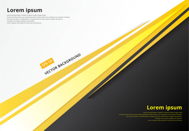template corporate concept yellow black grey and white contrast background. vector graphic design illustration - yellow stock illustrations