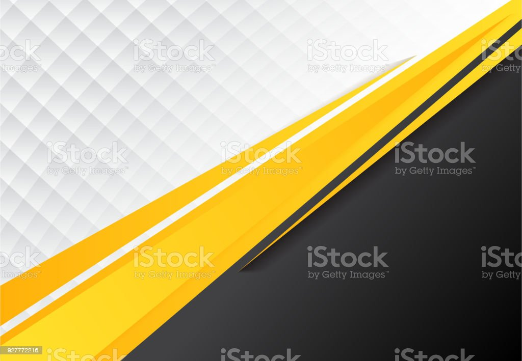 template corporate concept yellow black grey and white contrast background. vector art illustration