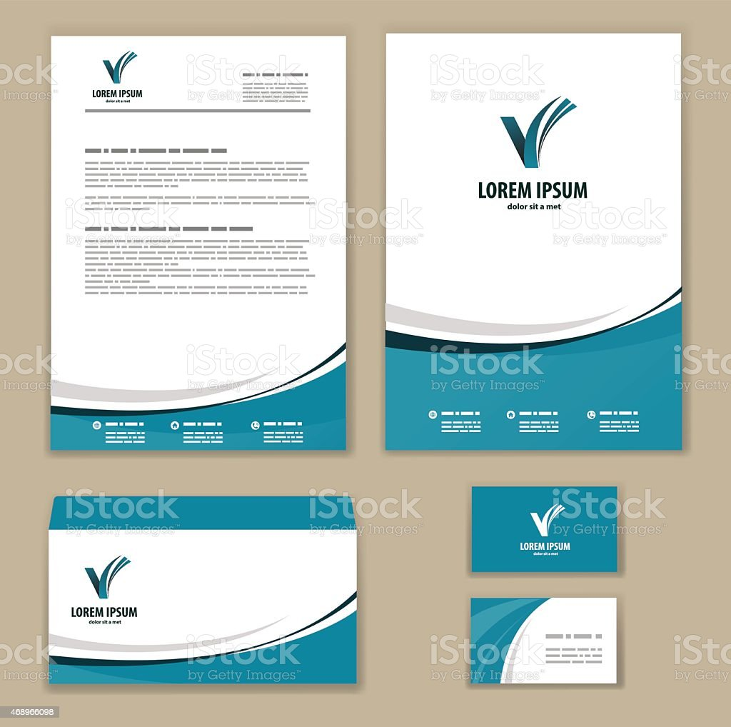 Template corporate style vector art illustration