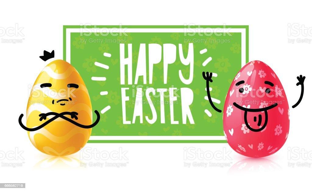 Banner Diseño Plantilla Huevo De Pascua De La Caza Evento Invitación ...
