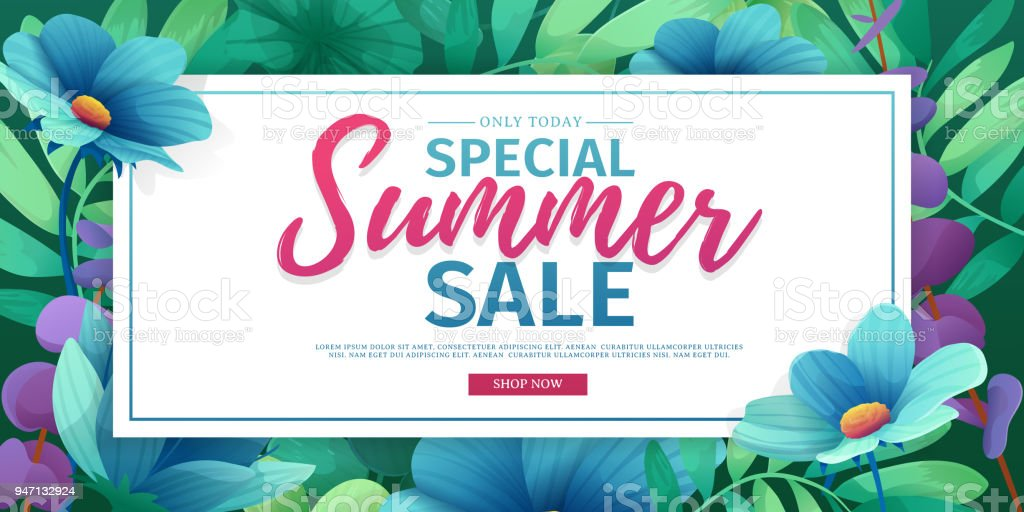 Template Design Banner For Summer Offer Special Sale Advertising ...