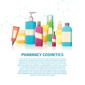 Template design banner, posters about the pharmacy cosmetics.