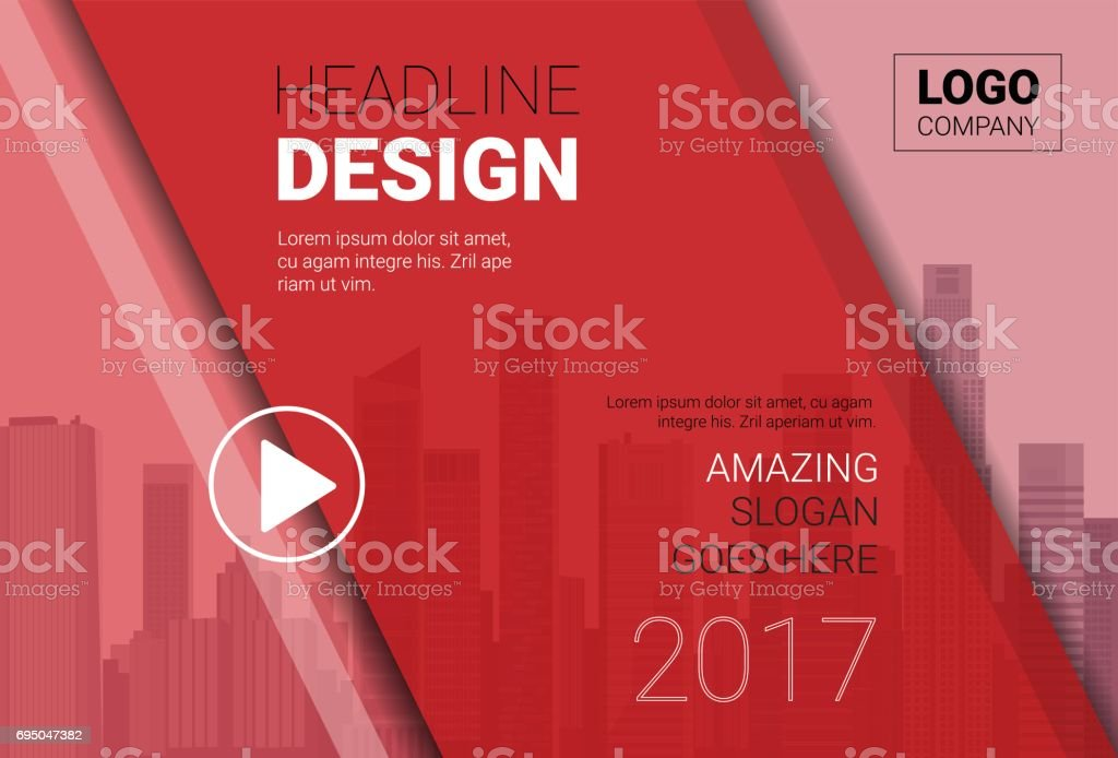 Template Design Brochure, Annual Report, Magazine, Poster, Corporate Presentation, Portfolio, Flyer With Copy Space vector art illustration
