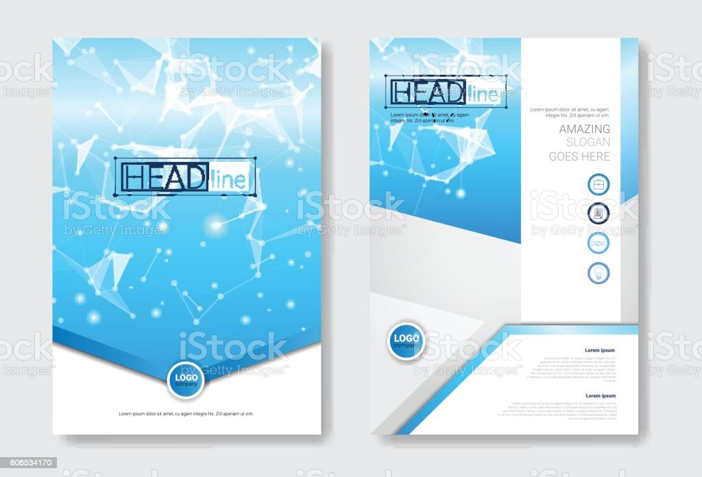 Template Design Brochure Set, Annual Report, Magazine, Poster, Corporate Presentation Collection, Portfolio, Flyer With Copy Space vector art illustration