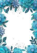 Template design flower arrangement with place for text.