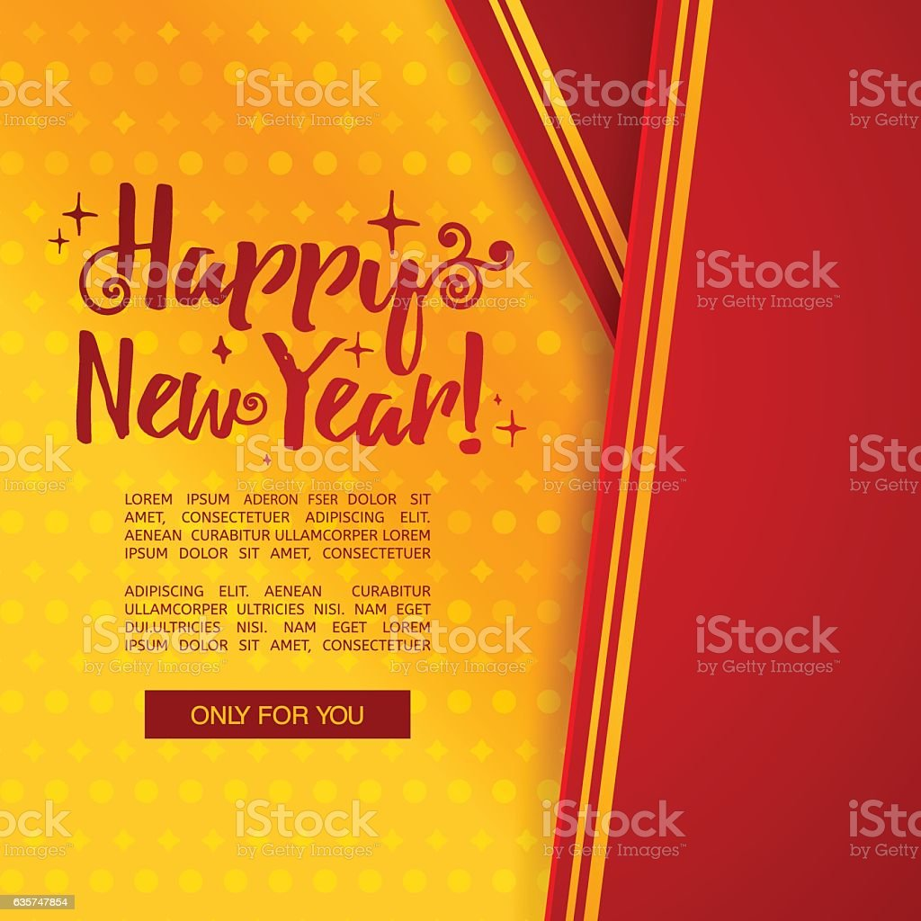 template design happy new year banner with vertical tape royalty free template design happy