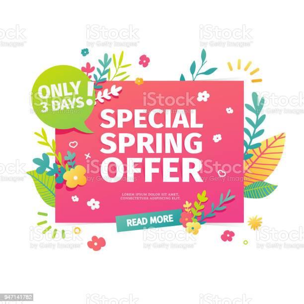 Template design horizontal web banner for spring offer advertising vector id947141782?b=1&k=6&m=947141782&s=612x612&h=nlefnmwdkqj82y0hkjdgvjbc3cmdgohchwcs5echiys=