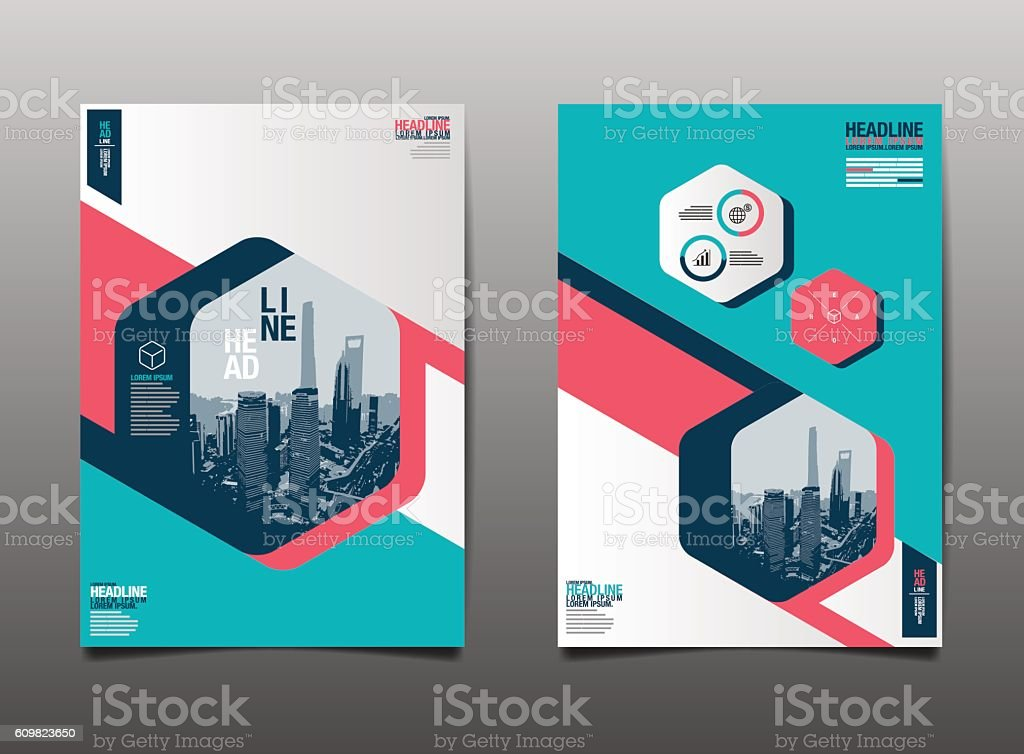 template design layout brochure flyer geometric vector